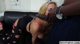 Slutty big assed Alexis Fawx fucks an enormous black cock