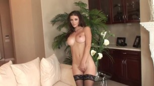 Heather Vandeven White Couch And Black Stockings