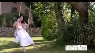 Leanne Crow White Dress Outdoor