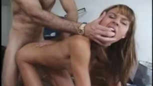 Skinnt young whore with small boobs Mariah Milano fucked by big black cock