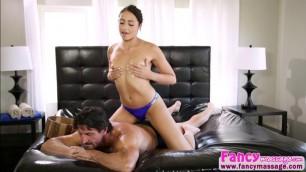 Brunette and beautiful Avi Love fucks her stepdad Tommys huge dick