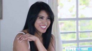 Asian petite Ember Snow loves to have sex with dudes huge cock