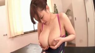 Lactating japanese big tits milf