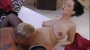 Pregnant whore gets fucked during an interview