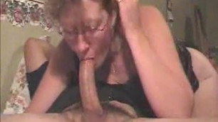 Deepthroat creampie for norwegian step mom