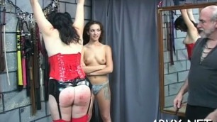 Raw scenes with obedient Sexy honeys enduring bondage sex