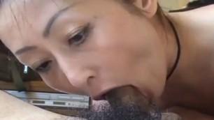 Asian deepthroat blowjob japanese mature