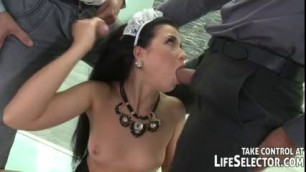 Young Eva Berger use their body and profession to earn some extra cash