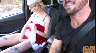 Pretty hitchhiker Haley Reed fucks for a free ride