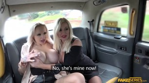 Bigtits Michelle and Sophie taxi threesome