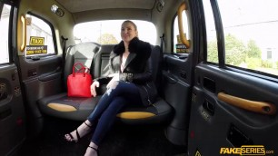 Hot babe Georgie Lyall insane sex in the taxis backseat