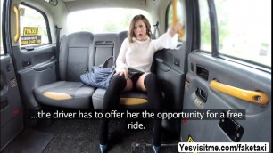 Cutie Spanish Betty Foxxx gets fucked hard in the taxicab
