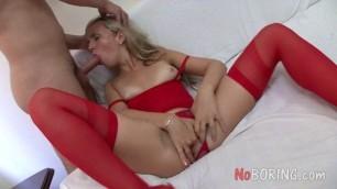 Daniella Cheap Whore Takes Double Dicks