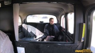 Babe Caroline Ardolino amazing cowgirl sex in the taxis backseat