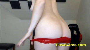 Lush Blonde From UK London Creamy Pussy Dripping