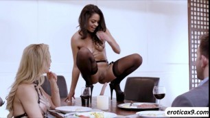 Naughty MILF Cherie DeVille wants to give her lover Sergeant OHara with an unusual treat for their anniversary with a lustful th
