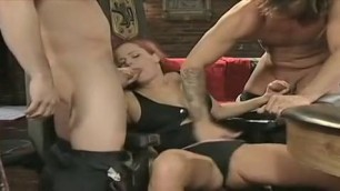 Hot girl indulges two men at the same time All In Scene 5
