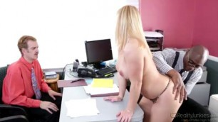 Katja Kassin Dirty Slut Wife fucks with a black man on the table