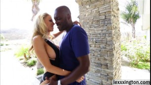 Blonde milf Katie Morgan gets banged with a big black cock
