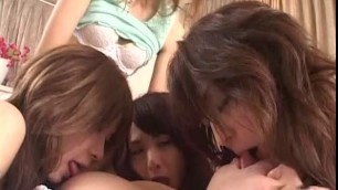 Incredible Japanese girl Risa Murakami Yuri Matsushima Yuka Osawa in Fabulous Fingering