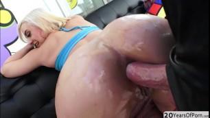 Blonde stunner Maria Jade receives a hard anal reaming