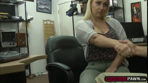 Sexy Nina Kayy strips naked and gets fucked in the office