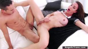 Horny guy slams Tgirl Jonelles tight ass