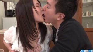 harming Brunette Sanae Akino blows hubby before