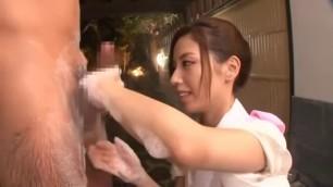 Amazing Japanese slut Miyuki Yokoyama in Hottest Amateur Handjob and Blowjob video
