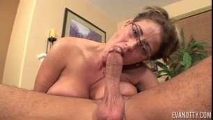 Big Natural Tits Eva Notty in My First Ever Cum Swallow