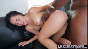 Kristina handle a BBC in her butthole