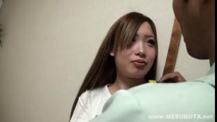 Cute Asian Schoolgirl Big Tits takes a dick in a hairy pussy