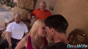 Liz Black blonde jumps on his dick The Liz Project
