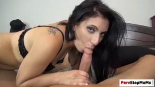 Horny stepson slams stepmoms tight pussy