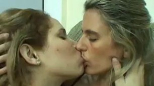 Passionate lesbian kissing Very passionate kisses of girls in sexy lingerie