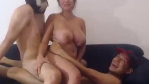 Huge tit Nude whore fick with two impotents part 3