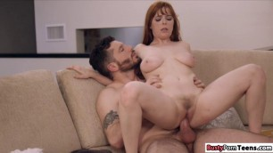 Penny rides room mates dick to heat up