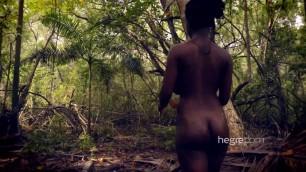 Gorgeous Ebony Big Tits Kiky Rucker in the Caribbean