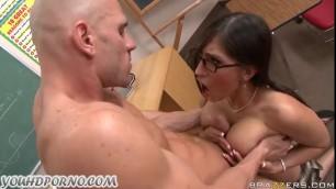 Horny Brunette Teacher Johnny Sins Gets Fuck Slutty Girl