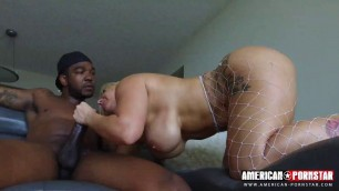American Booty Blonde Nina Kay Loves Huge Black Cock