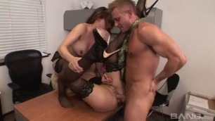 Threesome Sex With Hot Secretaries Cytherea And Lilith Lavey