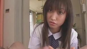 Exotic Japanese girl Ayumu Kase in Fabulous POV Handjob Sex video