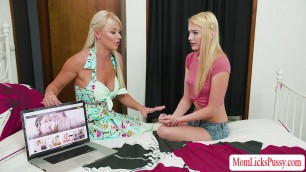 Damn beautiful Teen Kenna lures London into lesbian sex