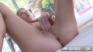 BoxTruckSex Delicate Kiara Lord is Convinced to Do a Sex Tape in Public
