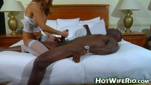 Busty woman with a black man BIG BLACK KNIGHT 12 creampie hotwiferio
