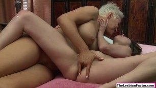Lesbian Ryan fingers her sexy friend