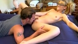 Noname Jane Nerdy Girl takes his cock in his pussy