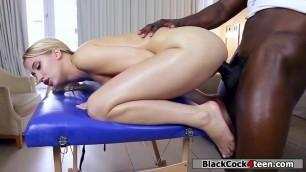 Black Masseuse fucked Sierras wet pussy hard