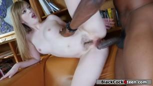 Black tutor fucks Dollys tight pussy