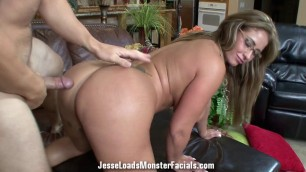 Eva Notty gets her face covered in cum hardcore fuck session